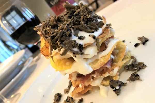 Sfoglie di lasagne croccanti al tartufo